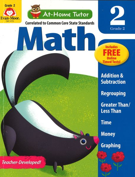 EVAN-MOOR Math At - Home Tutor - Grade 2 *CCS [9781613689820
