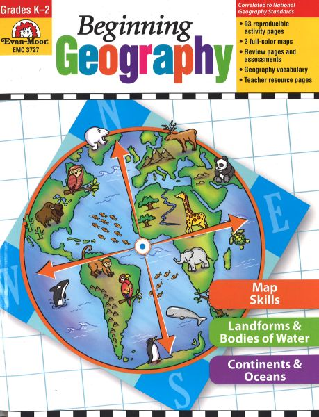 EVAN-MOOR Beginning Geography for Kindergarten thru Grade 2
