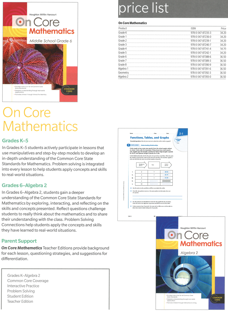 On Core Mathematics Bundle/Kit - ALGEBRA 2 [9780547873930] - $25 08